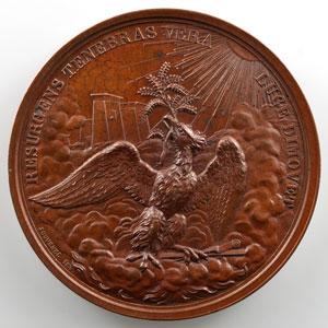 Jouvenel   Médaille maçonnique   Grand Orient de Bruxelles   bronze 46mm   1832    SUP/FDC