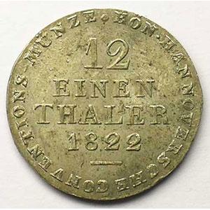 KM 139   1/12 Thaler   1822 L.B.    SUP/FDC