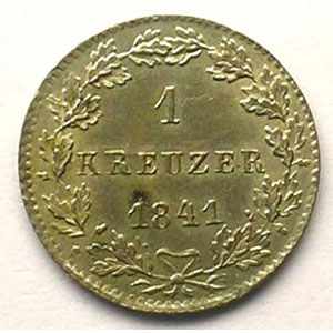KM 303   1 Kreuzer   1841    SUP