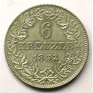 KM 350   6 Kreuzer   1852    SUP/FDC