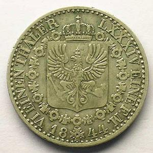 KM 436.2   1/6 Thaler   1844 A  (Berlin)    TTB