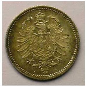 KM 5   20 Pfennig   1874 A    SUP/FDC