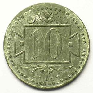 KM Tn1   10 (Pfennig)   1920    SUP