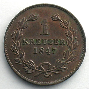 Kreuzer   1847    SUP/FDC