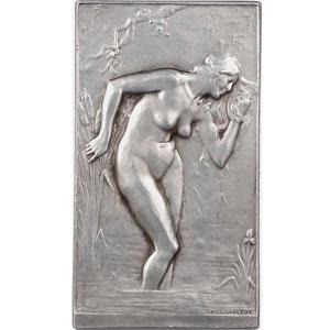 Lafleur Abel   (1903)   Plaque rectangulaire en argent  40x71mm   exemplaire numéroté 63 de la SAMF    SUP/FDC