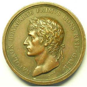 LAVY   Réunion du Piémont à la France   An XI (1802)   bronze   49 mm    TTB+