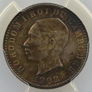 Lec.111   1 Franc  (module de)   1902    PCGS-AU58    SUP