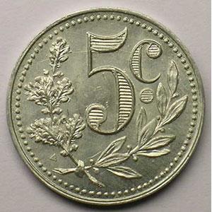 Lec.122   5 Centimes   1916  aluminium    SUP