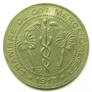 Lec.126   5 Centimes   1917  zinc    TTB