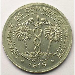 Lec.129   5 Centimes   1919  aluminium    FDC