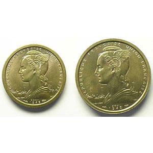 Lec.13, 17   1 Franc, 2 Francs   1948 Essai bronze-nickel    SUP/FDC