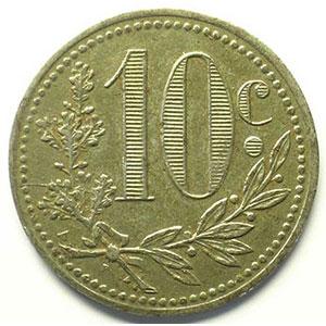 Lec.133   10 Centimes   1916  fer    TTB