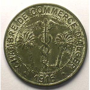 Lec.134   10 Centimes   1916  fer nickelé    SUP/FDC