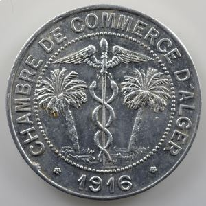 Lec.135   10 Centimes   1916  aluminium    SUP/FDC
