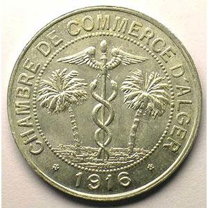 Lec.135   10 Centimes   1916  aluminium    SUP