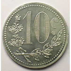 Lec.138   10 Centimes   1918  aluminium    FDC