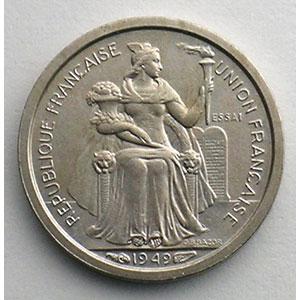 Lec.14   50 Centimes  1949 Essai    SUP/FDC