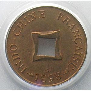 Lec.14   Sapèque (1/500 Piastre)   1898 A    PCGS-MS64RB    pr.FDC