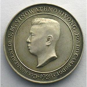 Lec.142   Médaille de couronnement   1928 argent   23mm    SUP