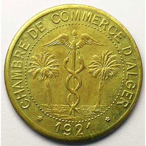 Lec.145 var.   10 Centimes   1921 (Essai) laiton    SUP/FDC
