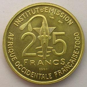 Lec.21   25 Francs   1957 Essai    FDC