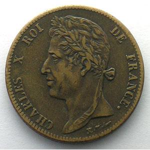 Lec.300   5 Centimes   1828 A    TTB