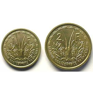Lec.4, 9   1 Franc, 2 Francs   1948 Essai bronze-nickel    SUP/FDC