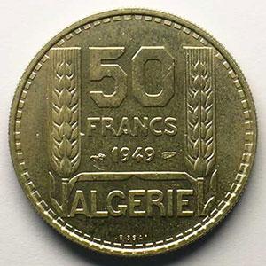 Lec.51   50 Francs   1949 Essai    FDC