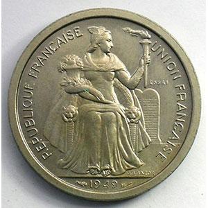 Lec.54   2 Francs 1949 Essai bronze-nickel    SUP/FDC