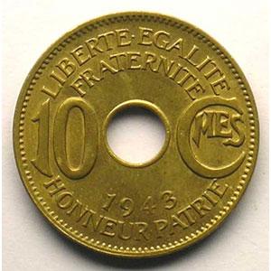 Lec.6   10 Cent.   1943 Prétoria    SUP