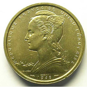 Lec.9   2 Francs   1948 Essai bronze-nickel    SUP/FDC
