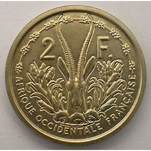 Lec.9   2 Francs   1948 Essai bronze-nickel    SUP