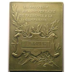 LECHEVREL   Plaque en argent  60x46mm   (Argentine)    SUP