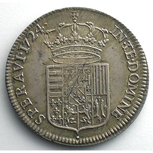 Léopold d'argent ou Aubonne   1724    TTB+/SUP