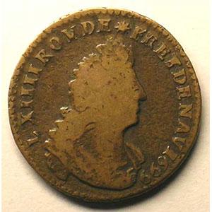 Liard de France   Louis XIV (1643-1715)   1699   avers    TB+/TTB