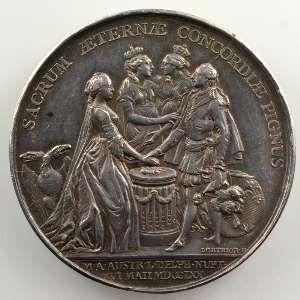 Lorthior   Mariage du Dauphin (futur Louis XVI et de Marie-Antoinette d'Autriche)   argent   37mm    TTB+/SUP
