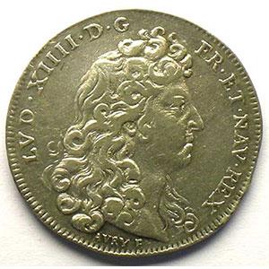 Louis XIV   jeton rond en argent   1678    TB+/TTB