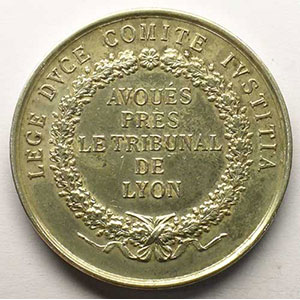 Lyon   jeton rond en argent   34mm    TTB