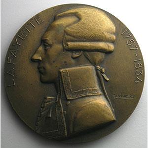 M. DELANNOY   Médaille en bronze  68mm   Compagnie Générale Transatlantique   M.S.Lafayette   Mai 1930    SUP
