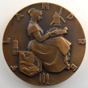 M. RENARD   Médaille en bronze  50mm   Cie Gle Transatlantique   Flandre    SUP/FDC