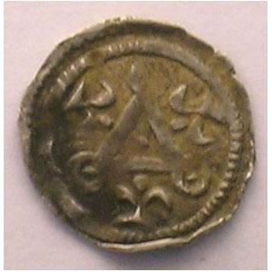 Maille ou petit denier du XIII° siècle    TTB
