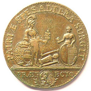 Mamiel de Marieulles en l'honneur de Casimir de Caumartin   1754  cuivre    TTB