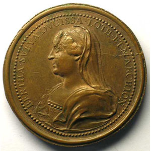Mathieu I   bronze   47 mm   coin cassé au revers    TTB