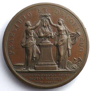 MAUGER   L'Académie Française au Louvre   bronze   41mm    SUP/FDC