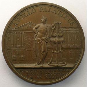 MAUGER   Le Roi protecteur de l'Académie Française   bronze   41mm    SUP/FDC