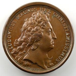 MAUGER   Prise de Charleroi   bronze   41mm    SUP