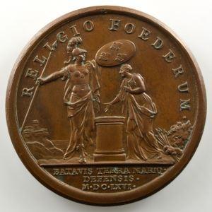 MAUGER   Secours donné aux Hollandais   bronze   41mm    SUP/FDC
