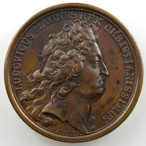 MAUGER/Th. BERNARD   Avènement du duc d'Anjou au trône d'Espagne   bronze   41mm    SUP