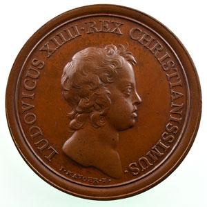 MAUGER/Thomas Bernard   Commencement du règne de Louis XIV   bronze   41mm    SUP