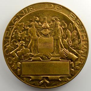 Mayeur A.   Médaille en bronze doré 63mm   Compagnie de Béthune   (1851)    SUP/FDC